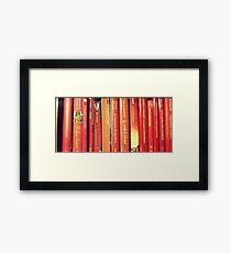 red books Framed Print