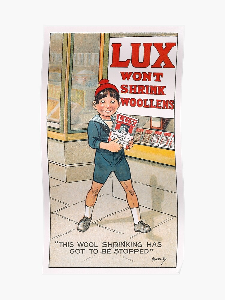 Victorian Lux Soap Advertisement Poster