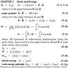 #Chapter 7, #Work and #Energy, Scalar Product, #Kinetic energy by znamenski