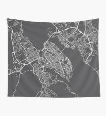Halifax Karte, Kanada - Grau Wandbehang