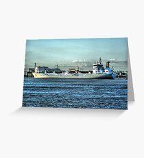 Massive Ship Greeting Card