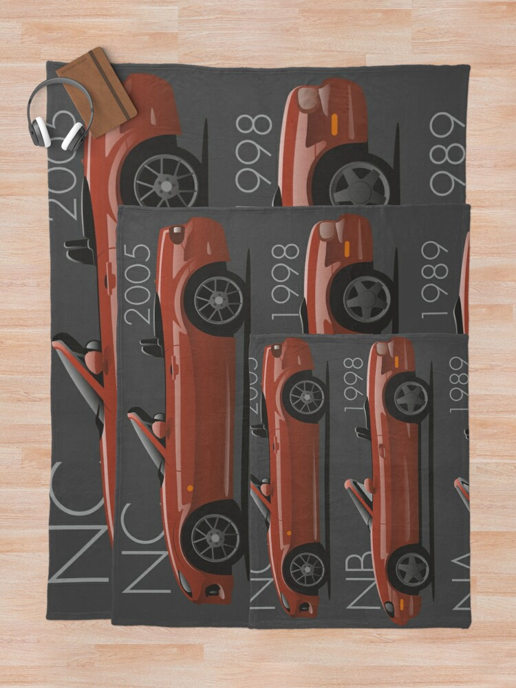 Alternate view of Mazda MX-5 evolution Throw Blanket