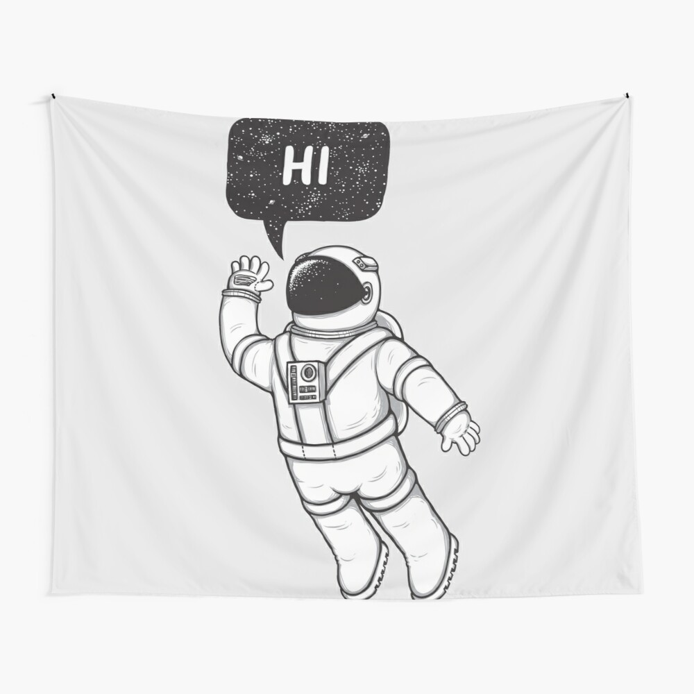 Greetings from space Wall Tapestry