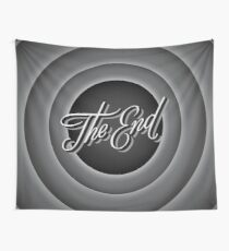 Retro Movie Ending Screen Wall Tapestry
