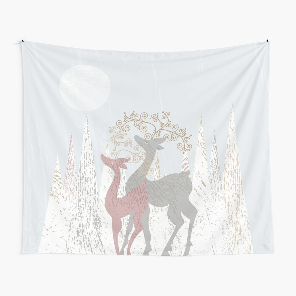 Couple of Deer Wall Tapestry