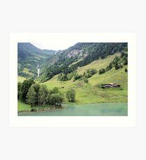 Landscape Austria like a postcard Art Print