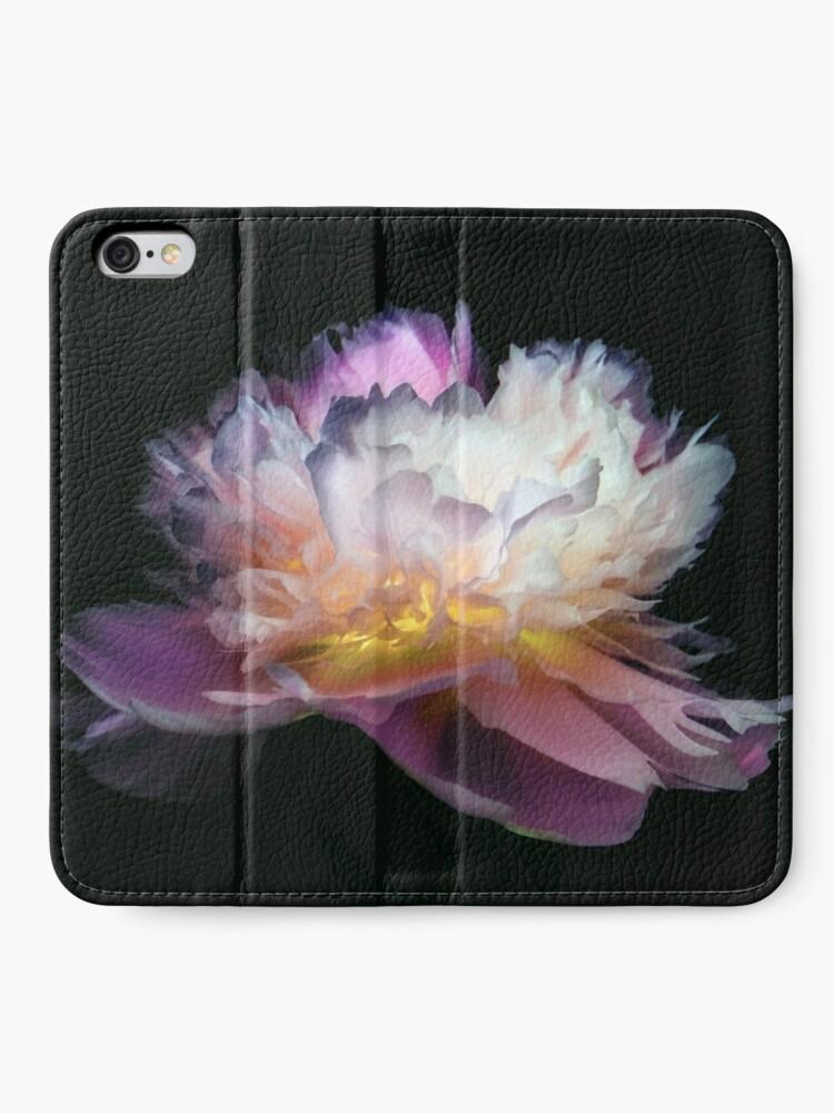 Étui portefeuille iPhone ''Inverted peony': autre vue