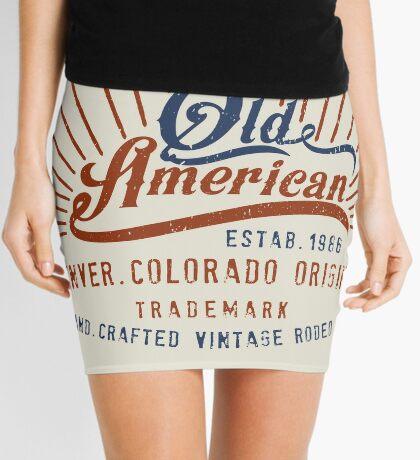 Denver Colorado Old American Mini Skirt