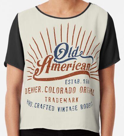 Denver Colorado Old American Chiffon Top