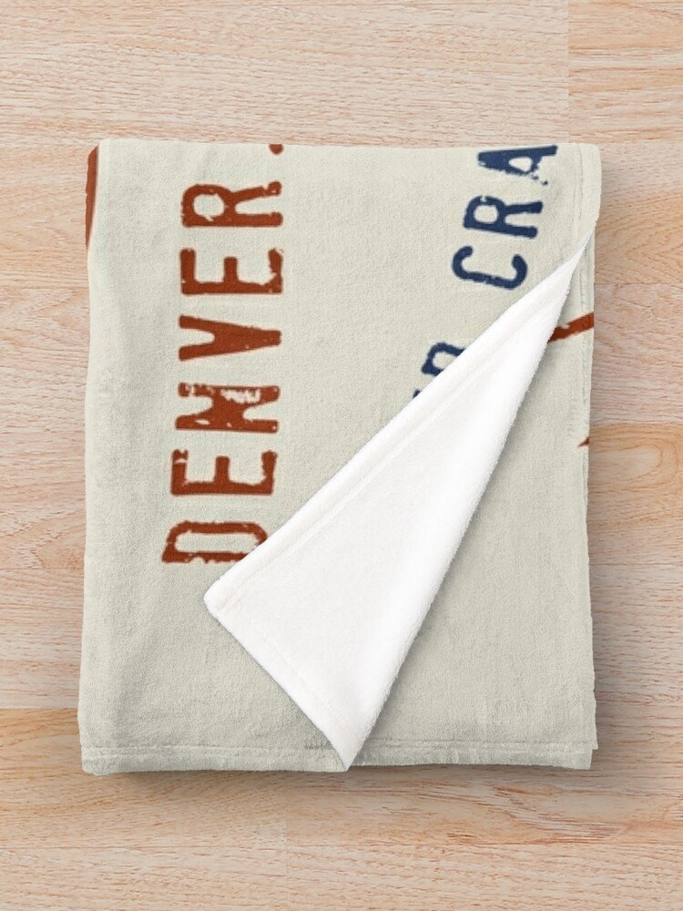 Alternate view of Denver Colorado Old American Throw Blanket