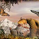 Seashells & butterflies island  by Fiery-Fire