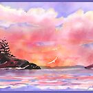 Flying Home In A Bubblegum Sky One a different version of Pink and Gold Sunset by Joan A Hamilton