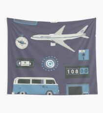 Lost blue Wall Tapestry