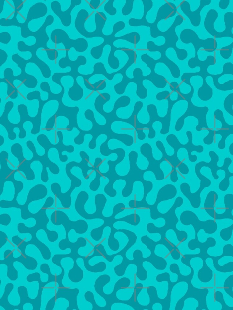 Abstract retro summer teal groovy pattern by MagentaRose