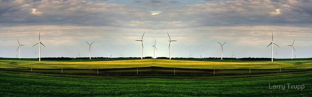 Wind Turbines (Pano) by Larry Trupp
