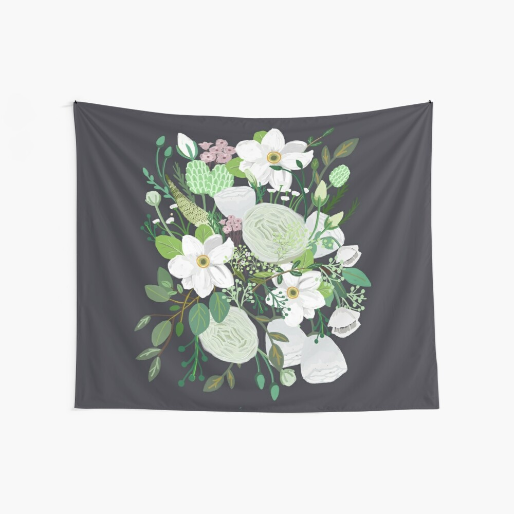 Floral Forest Wall Tapestry