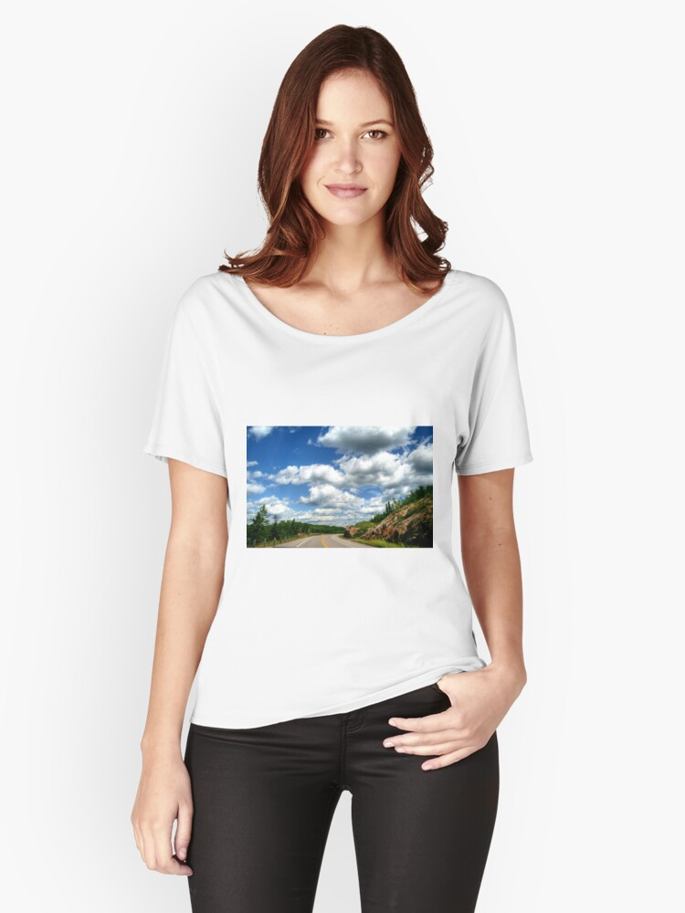 Scenic Drive to the USA Women's Relaxed Fit T-Shirt Front