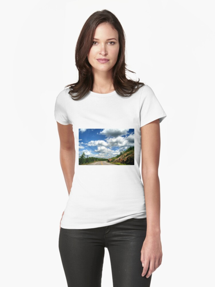 Scenic Drive to the USA Womens T-Shirt Front