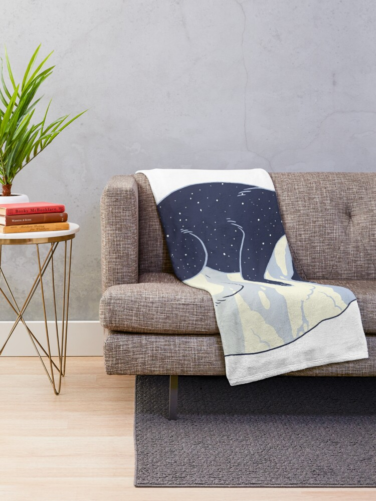 Alternate view of Day and Night Throw Blanket