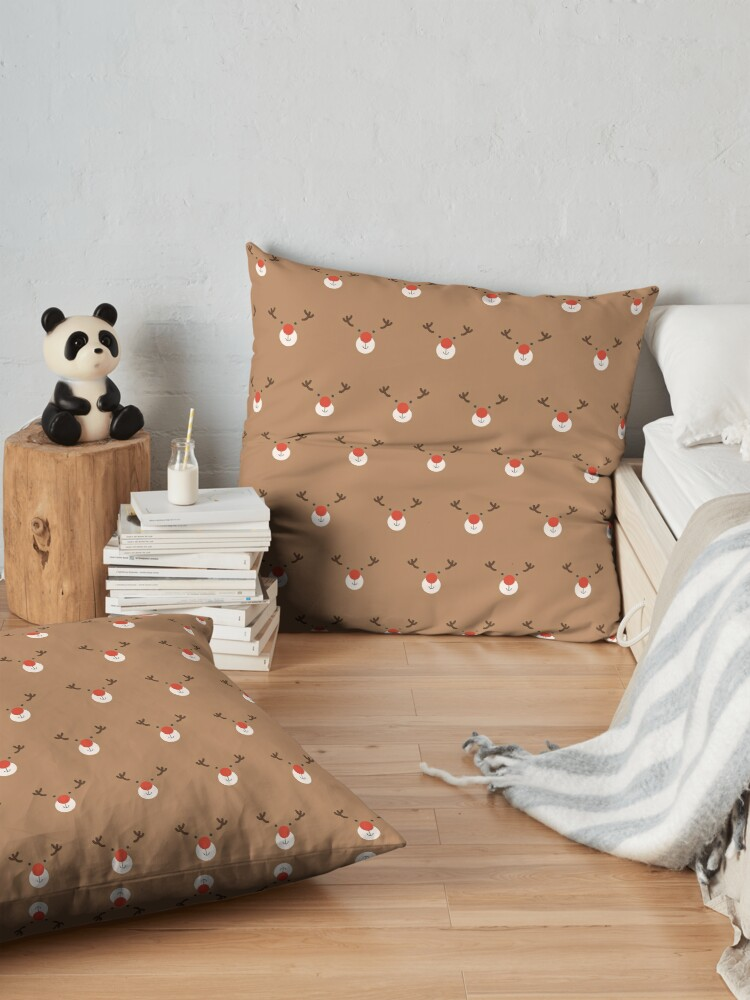 Alternate view of Rudolph Clones (Patterns Please) Floor Pillow