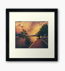 Okanagan Lake Framed Print
