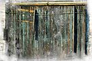The Weathered Barn Door by Aaron Campbell