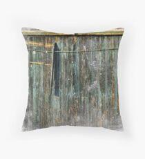 The Weathered Barn Door Throw Pillow