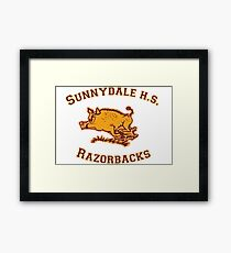 Sunnydale H.S. Razorbacks Framed Print