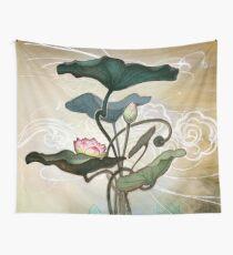 Lotus from the mud Wandbehang