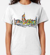 Bright Brisbane City Skyline  Classic T-Shirt