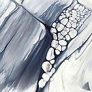 Niagarafälle, abstrakte flüssige Malerei von PrintsProject