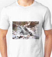 Fresh Snow at the F. L. Ricketts Waterfall T-Shirt