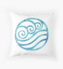 Aquarell Wasser Stammes Symbol Dekokissen