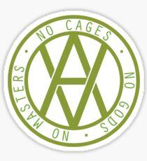 No Cages, No Gods, No Masters Sticker