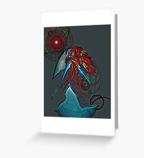 Abstract Eggshell 1 Greeting Card
