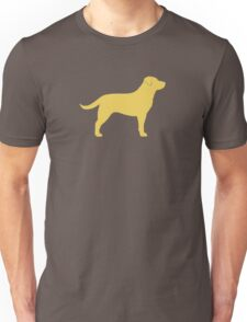 Yellow Labrador Retriever Silhouette(s) Unisex T-Shirt
