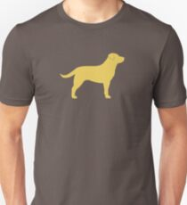 Yellow Labrador Retriever Silhouette(s) Unisex T-Shirt
