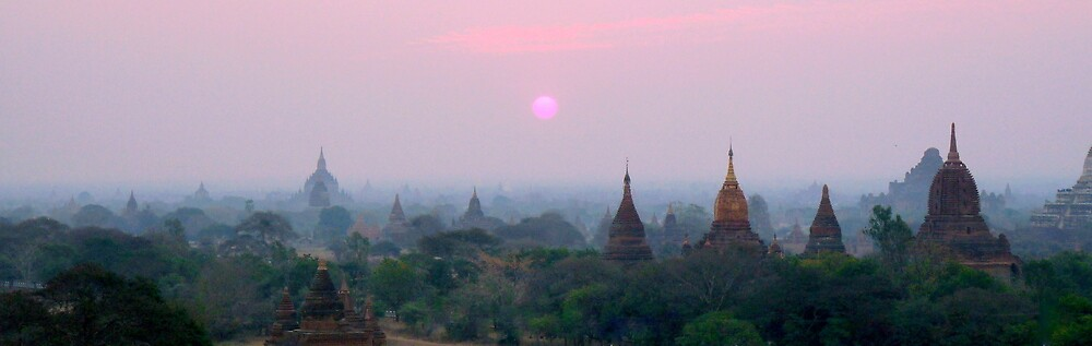 Bagan's Dawn  by Brian Bo Mei