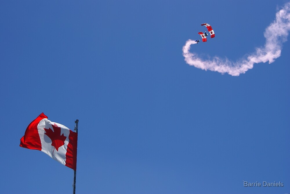 Canadian Forces Skyhawks Parachute Team by Barrie Daniels