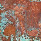 «Textura de cobre de metal deslustrada - Marmol natural Arte industrial» de PIPAArtHomeDeco
