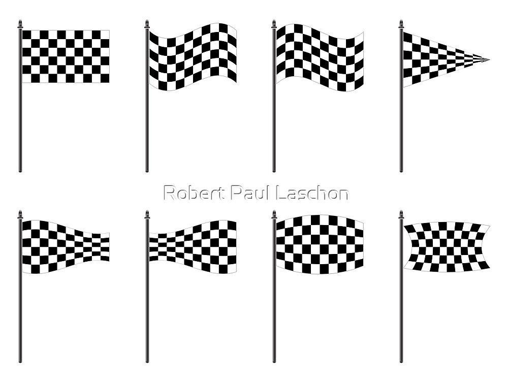 Checkered flags collection by Laschon Robert Paul