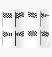 Checkered flags collection Poster
