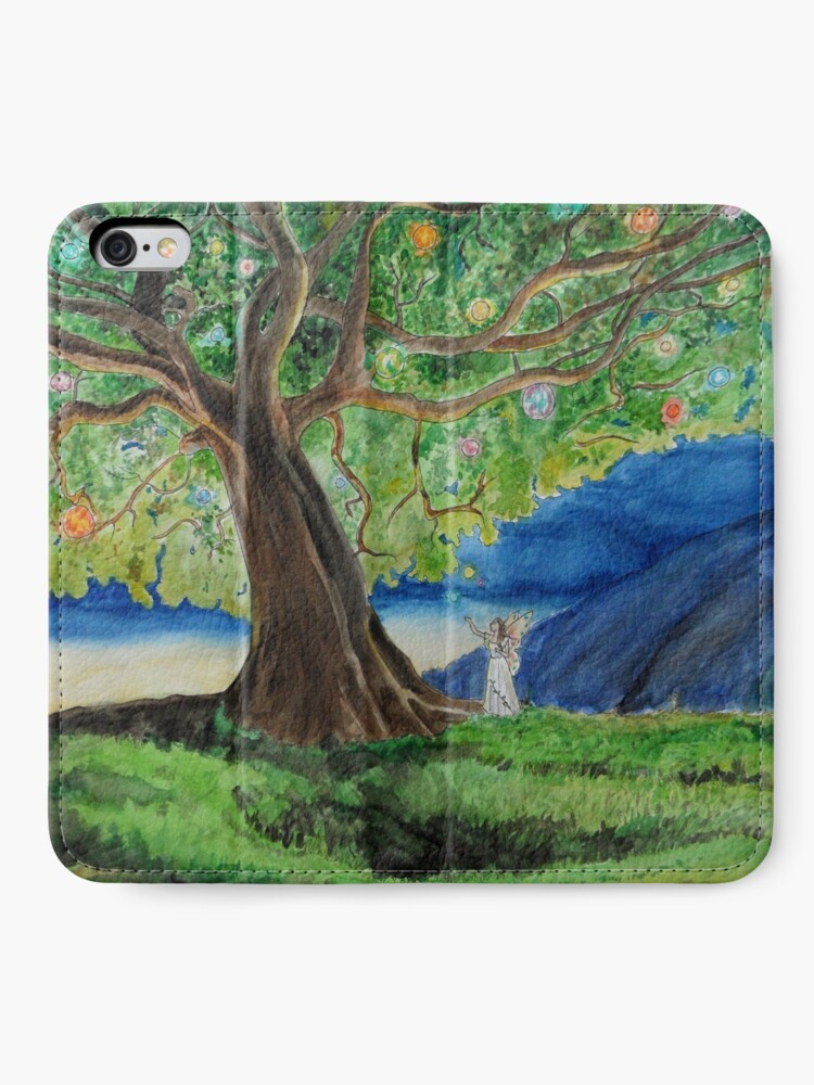 Alternate view of tree of lights iPhone Wallet