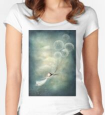 Away with the fairies  Women's Fitted Scoop T-Shirt