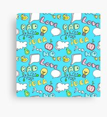 Funny Colorful Seamless Pattern Canvas Print