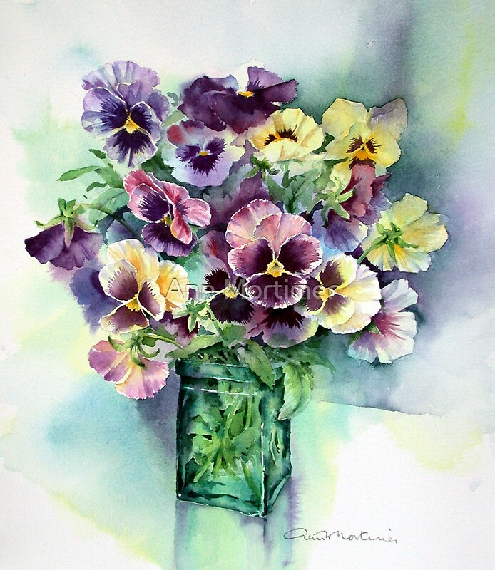 Quot Pansies Quot By Ann Mortimer Redbubble