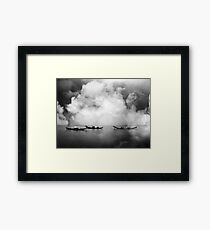 Silence before the rainstorm Framed Print