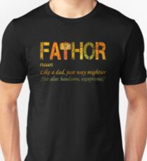 4d3bb628 Fa-Thor Like Dad Just Way Mightier Hero Slim Fit T-Shirt
