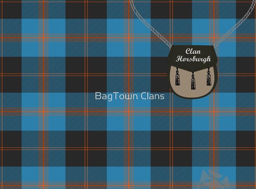 Clan Horsburgh surname last name Scottish Clan tartan badge