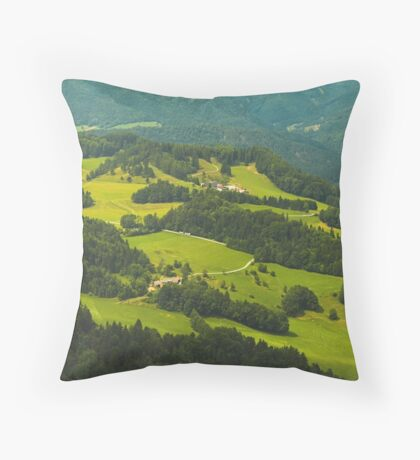 Green, green, green... Throw Pillow